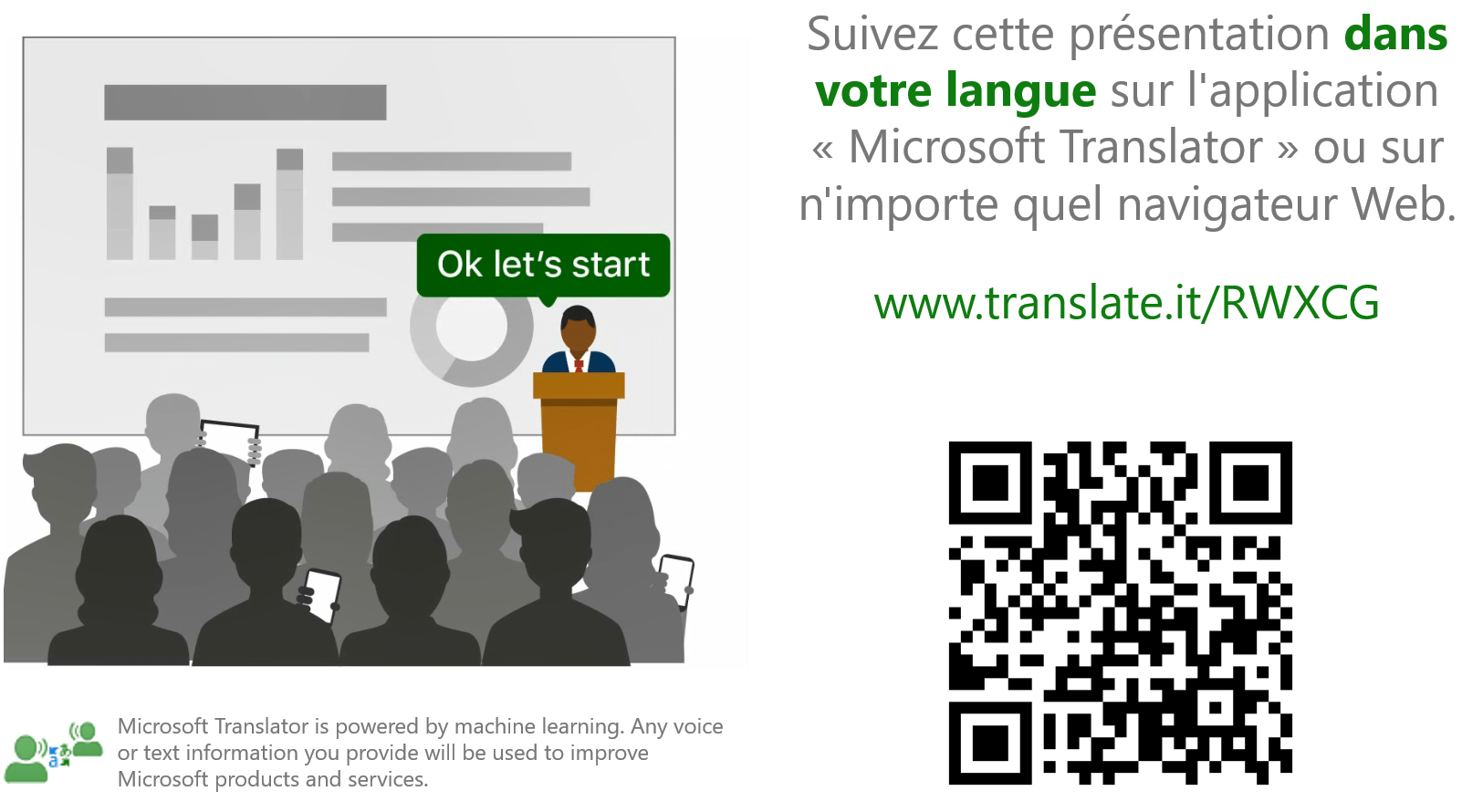 Screen shot of language translator PowerPoint slide