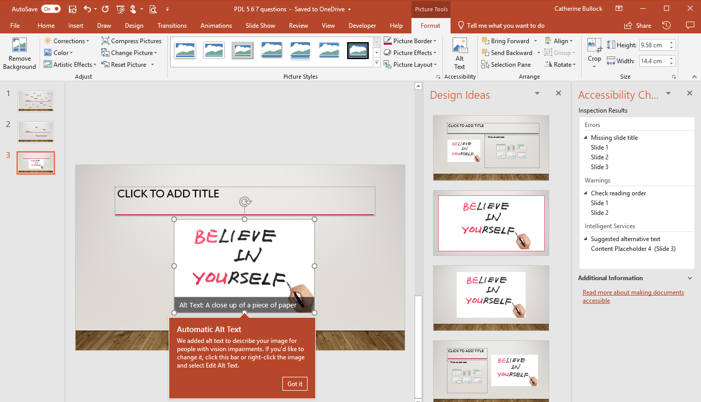 PowerPoint slide showing examples explained above