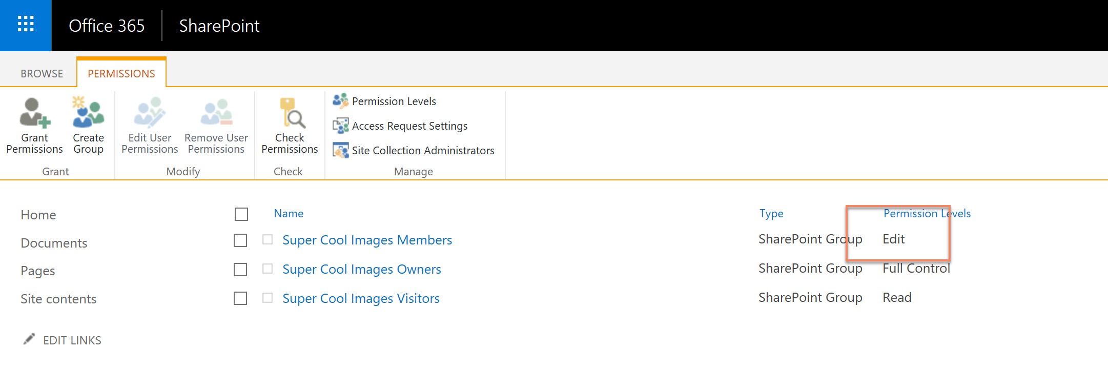 Members all have delete list permissions